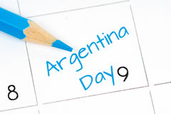Argentina independence day calendar Stock Photos