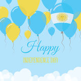 Argentina Independence Day Flat Greeting Card. Royalty Free Stock Images