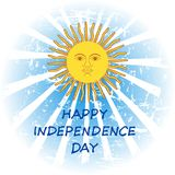 Argentina Independence Day. 9 July. Argentina Independence Day background in national flag color theme. Celebration banner with text and sun. Vector illustration Stock Image