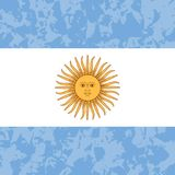 Argentina Independence Day. 9 July, Flag of Argentina. Grunge background. Sun of May. Argentina Independence Day. 9 July, Concept of a national holiday. Flag of royalty free illustration