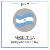 Argentina Independence Day, July 9 Stock Photos