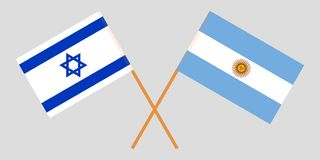 Argentina and Israel. The Argentinean and Israeli flags. Official colors. Correct proportion. Vector. Illustration royalty free illustration
