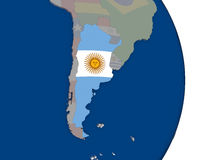 Argentina with its flag Stock Photography