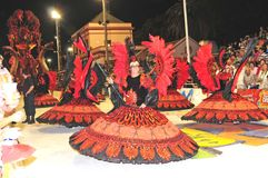 argentina karneval 2008 februari Arkivbilder