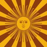 Argentina kort - affischvektorillustration med sol- och flaggafärger royaltyfri illustrationer