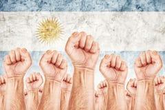 Argentina Labour rörelse, slag för arbetarunion Fotografering för Bildbyråer