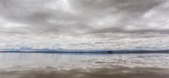 Argentina Laguna Llancanelo Foto de Stock