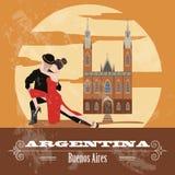 Argentina landmarks. Retro styled image Royalty Free Stock Image