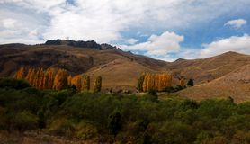 Argentina landscape patagonia mountain and river Panorama Royalty Free Stock Images