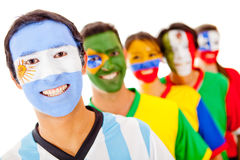 Argentina leading a Latin group Stock Image