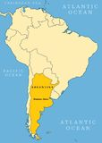 Argentina locator map vector illustration