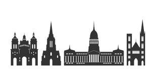 Argentina logo Isolerad argentinsk arkitektur på vit bakgrund royaltyfri illustrationer