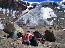 Argentina los Andes - expedición a Vall de Colorado foto de archivo