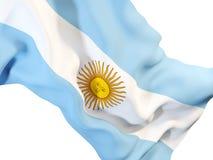 argentina machał flagę royalty ilustracja