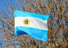argentina machał flagę Fotografia Royalty Free