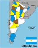 Argentina Map Stock Photo