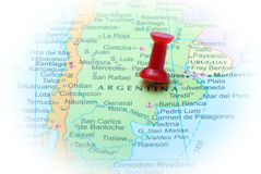 Argentina in map Royalty Free Stock Photos