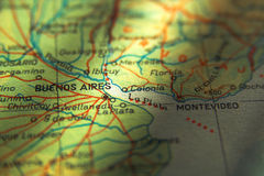 Argentina Map - Buenos Aires Stock Image