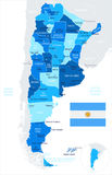 Argentina - map and flag illustration Royalty Free Stock Image