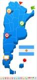 Argentina - map and flag illustration Stock Photo