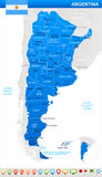 Argentina - map and flag illustration Royalty Free Stock Photography