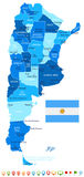 Argentina - map and flag illustration Stock Images
