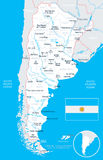 Argentina - map and flag illustration Stock Photography