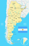 Argentina - map and flag illustration Royalty Free Stock Photos