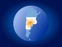 Argentina map flag sphere Royalty Free Stock Photography