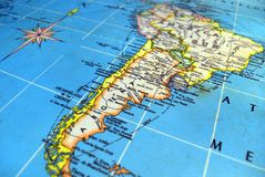 Argentina Map. Mapa de Suramerica Argentina Latinoamerica Republica Argentina America stock photo