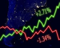 Argentina Map Stock Market Stock Photos