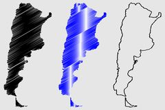 Argentina map vector Royalty Free Stock Photo