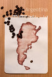 argentina mapa Zdjęcia Royalty Free