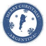 argentina mapa Roczników Wesoło boże narodzenia Argentyna ilustracji