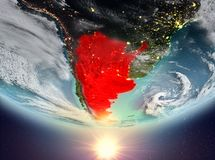 Argentina med solen royaltyfri illustrationer