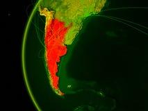 Argentina na terra com rede ilustração royalty free