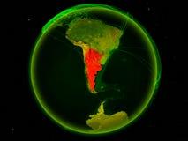 Argentina na terra com rede ilustração stock