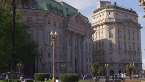 Argentina National Bank headquarters stock footage