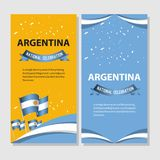 Argentina National Celebration Poster Vector Template Design Illustration. Day flag world flags argentine symbol background turkey icon all white independence vector illustration