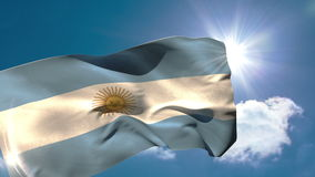 Argentina national flag blowing in the breeze