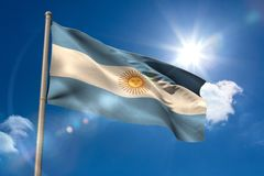 Argentina national flag on flagpole Stock Image