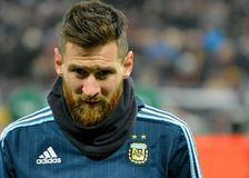 Argentina national football team captain Lionel Messi royalty free stock image