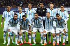 Argentina National Football Team. Lionel Andres Messi during the football match between Romania and Argentina, 5th March 2014, National Stadium, Bucharest Stock Photos