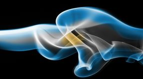 Argentina national smoke flag Stock Photography