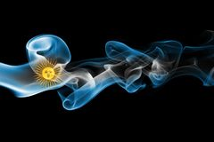 Argentina national smoke flag Stock Photos