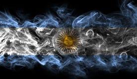 Argentina national smoke flag. Argentina smoke flag isolated on a black background royalty free illustration