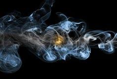 Argentina national smoke flag. Argentina smoke flag isolated on a black background stock illustration