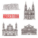 Argentina natural and architecture landmarks Stock Images