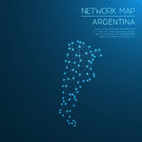 Argentina network map. Stock Image