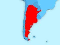 Argentina no mapa 3D ilustração royalty free